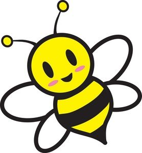 Bee clipart free colorful. Honey image cartoon flying