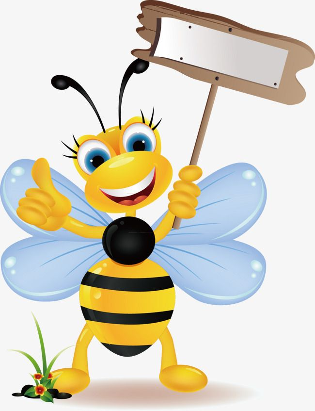 Bee clipart free colorful. Cute vector simple png