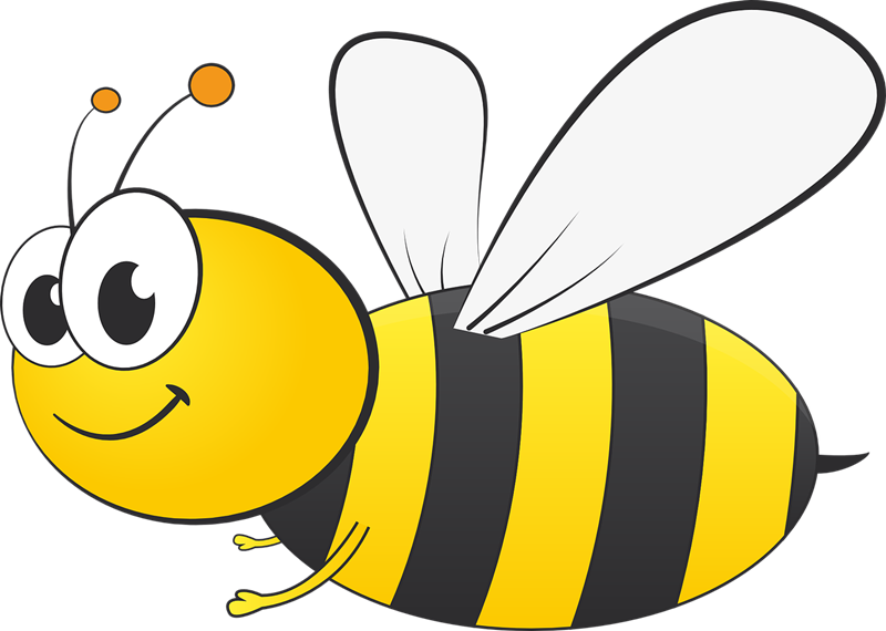 bee clipart free flying