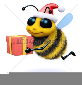 Christmas Honey Bee Clipart