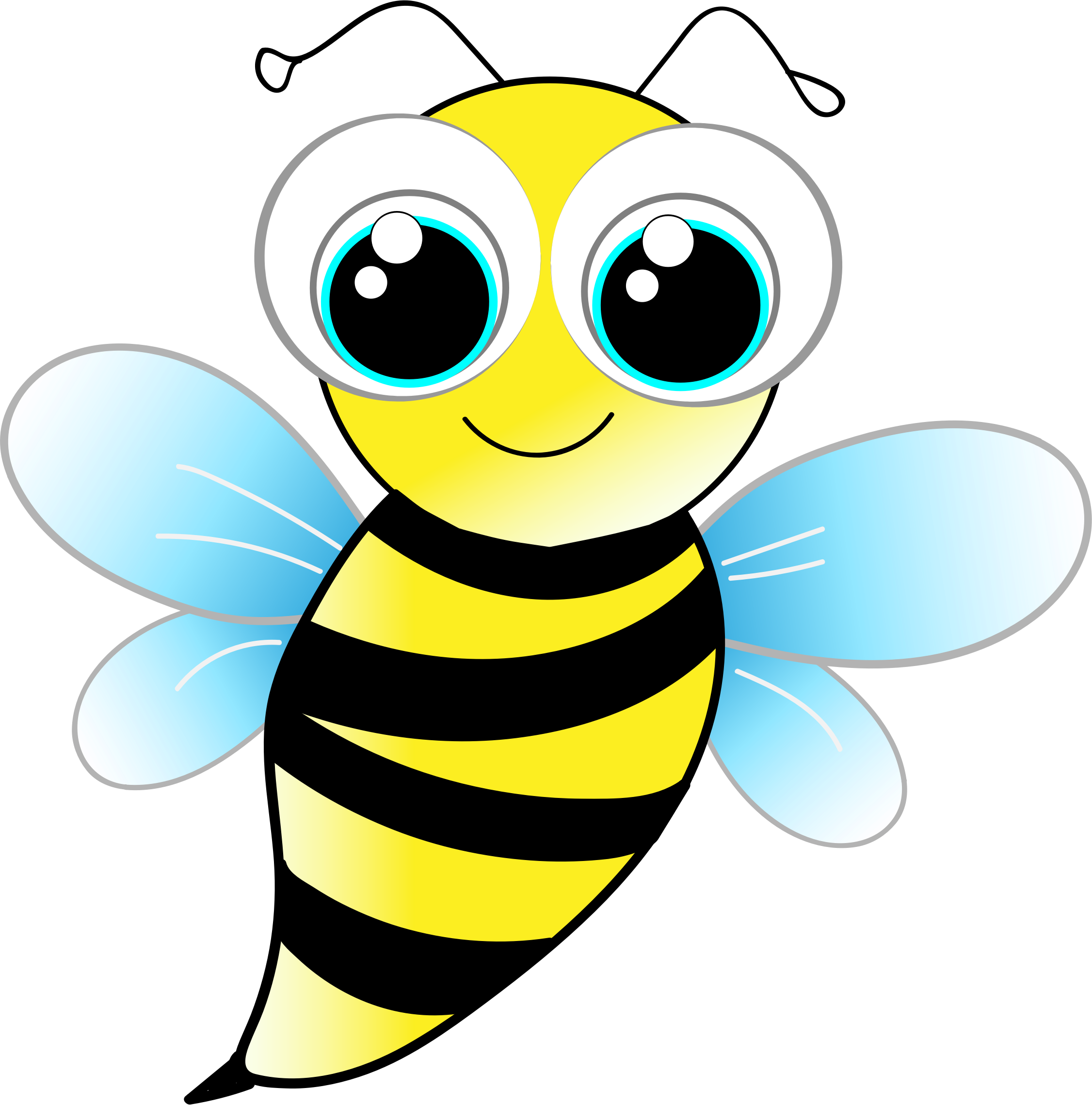 Bee clipart free colorful. Transparent download clip art
