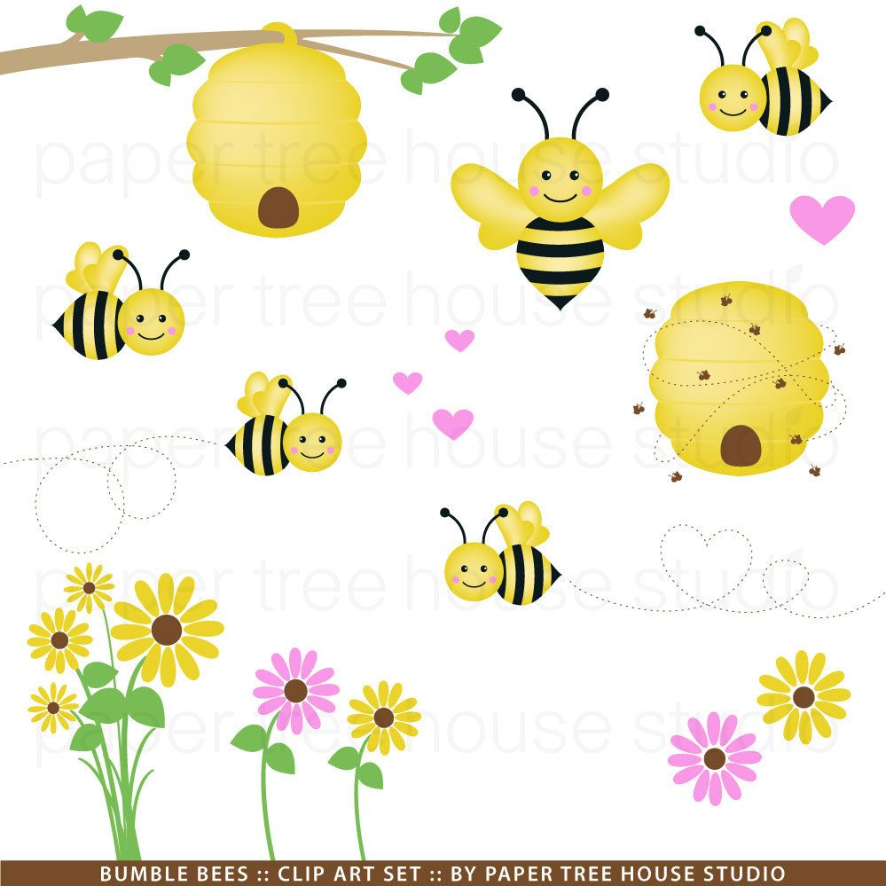 Bumblebee clipart sunflower transparent.