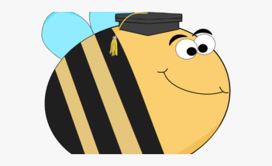 Bee clipart graduation.