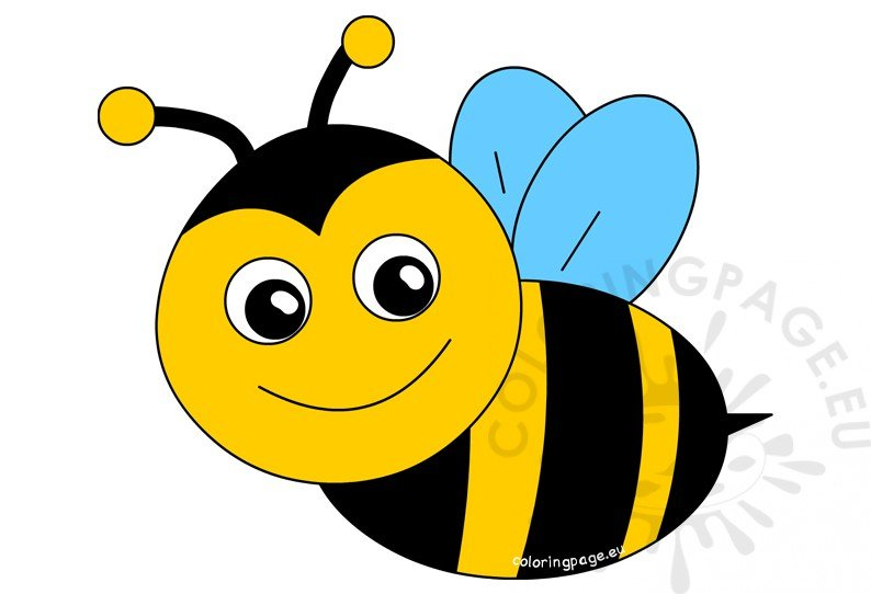 Happy bee cartoon.