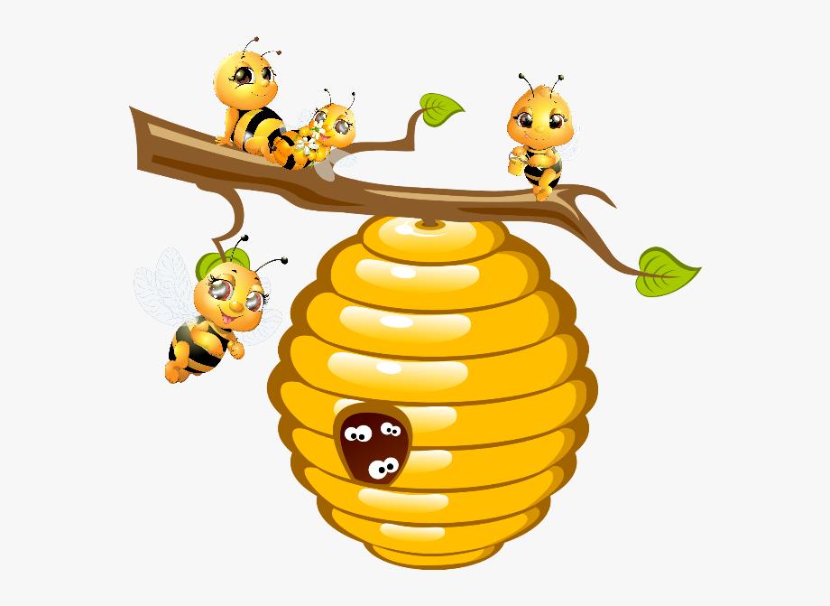bee hive clipart cartoon