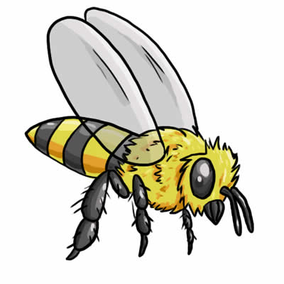 Bee clipart free colorful. Clipartpost