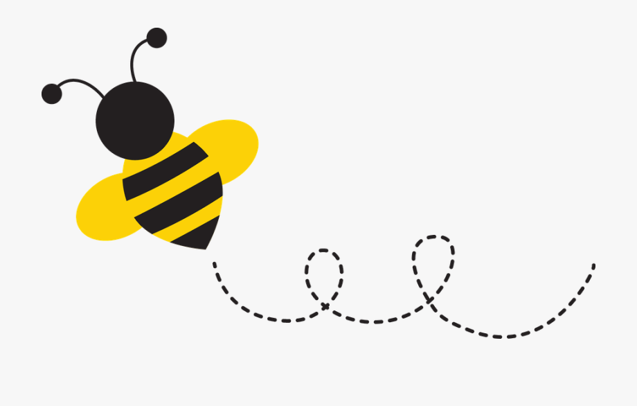 Bee clipart flying. With trail free cliparts