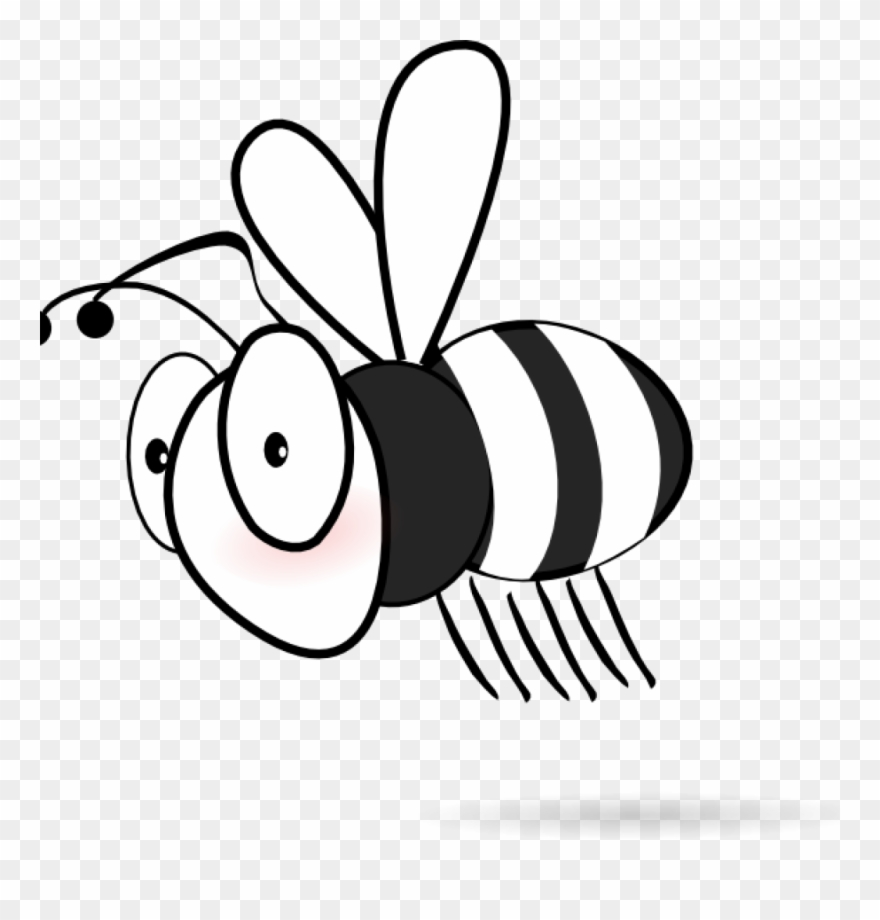 Bee clipart vector. Black and white clip