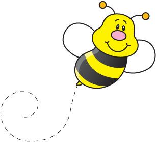 Bee clipart vector. Bee clipart vector. Bumble honey cartoon clip