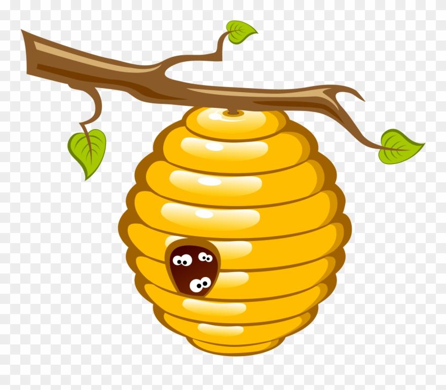Bee hive clipart illustration. Honey beehive clip art