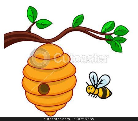 bee hive clipart vector