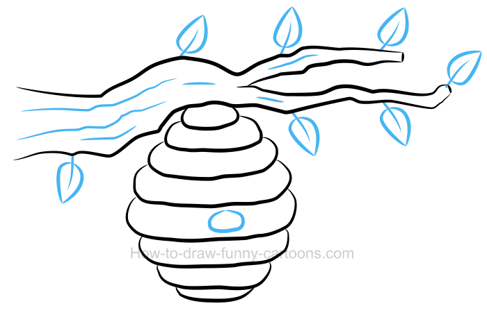 Bee hive clipart illustration. How to draw a