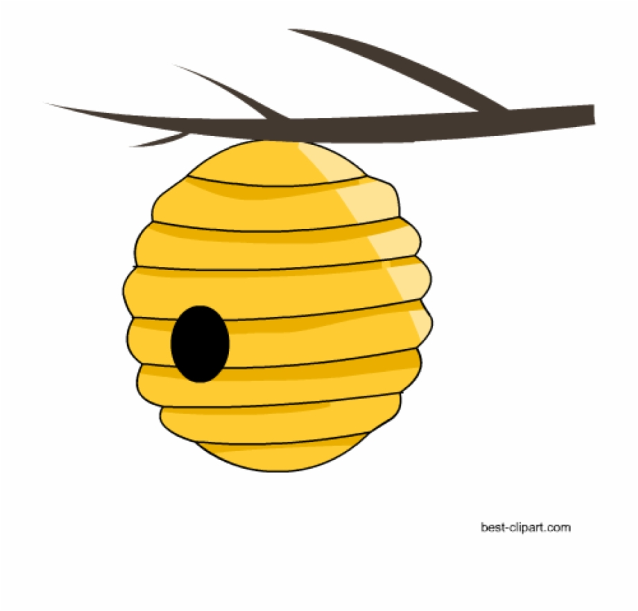 Bee hive clipart illustration. Beehive free honey and