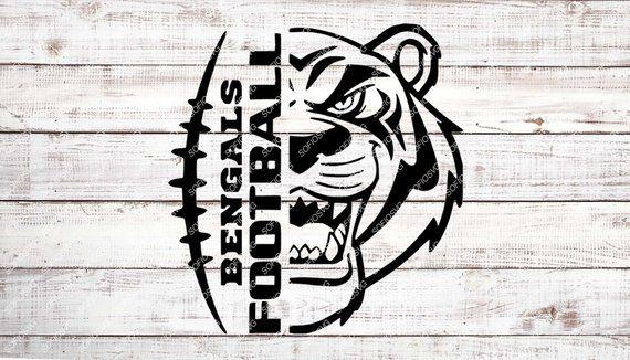 Bengals clipart stencil. Bengals clipart stencil. Football svg file tiger