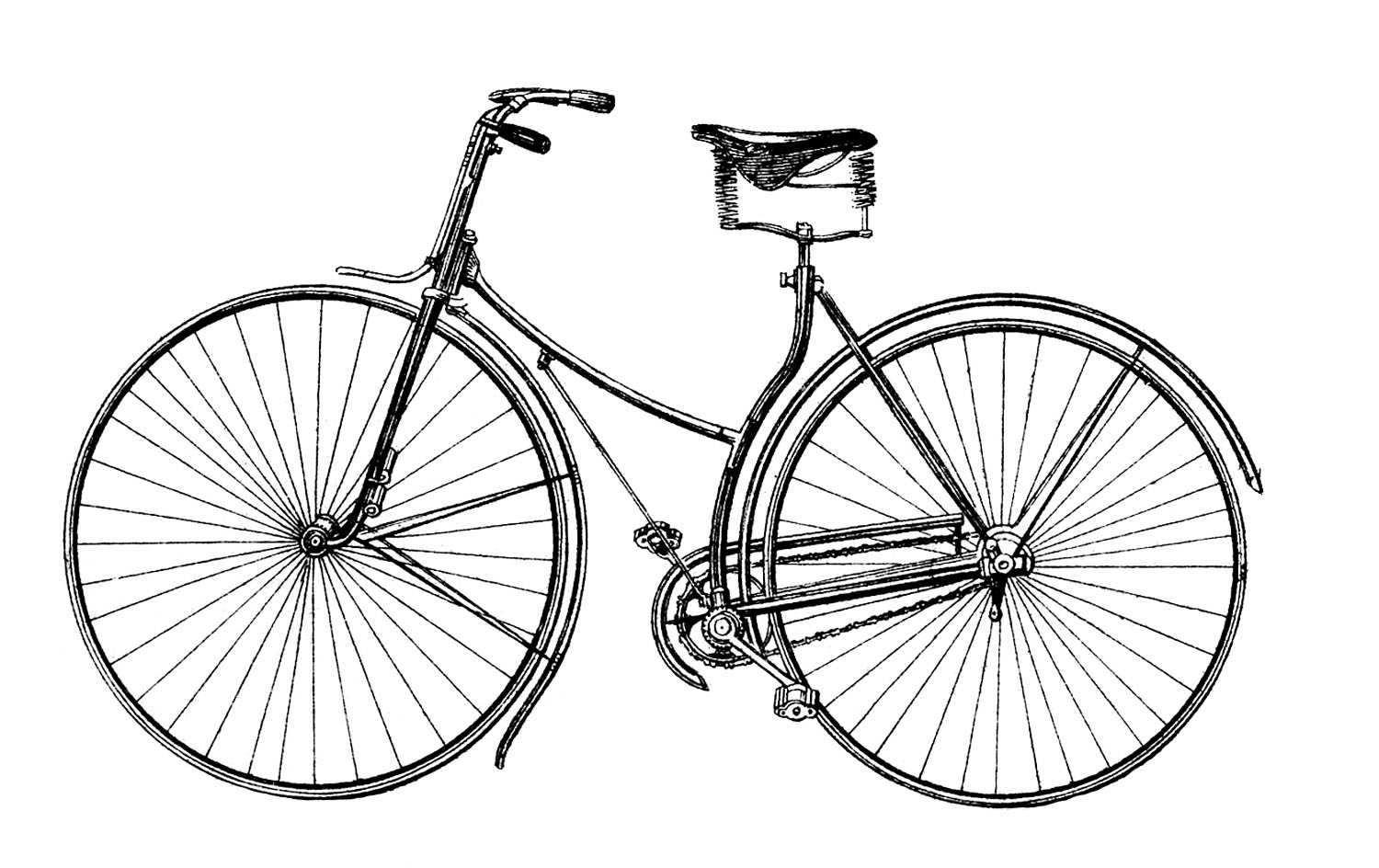 bicycle clipart front