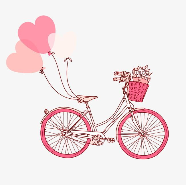 bicycle clipart romantic