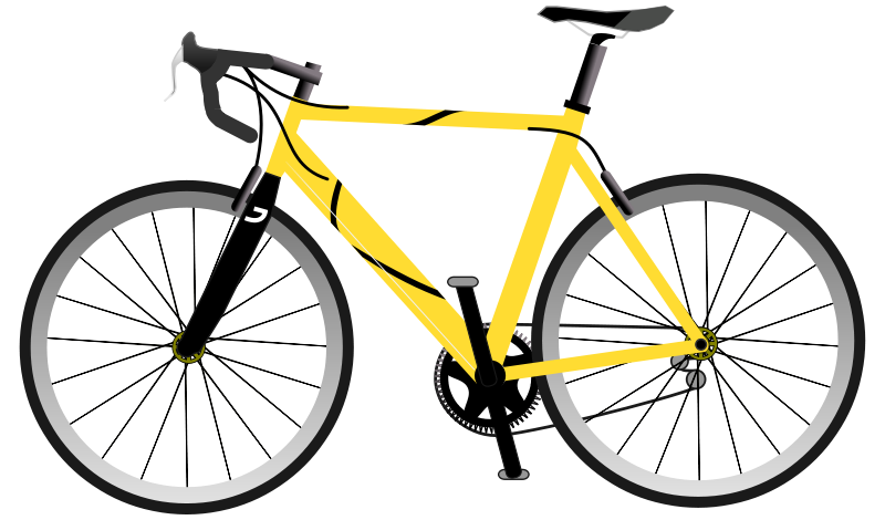 bicycle clipart yellow