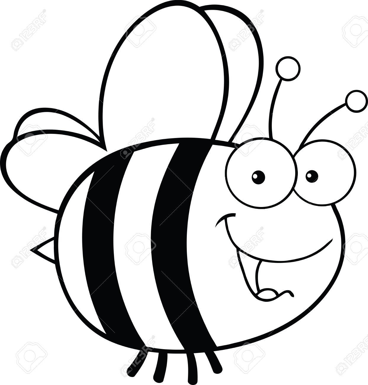 Biene clipart schwarz.