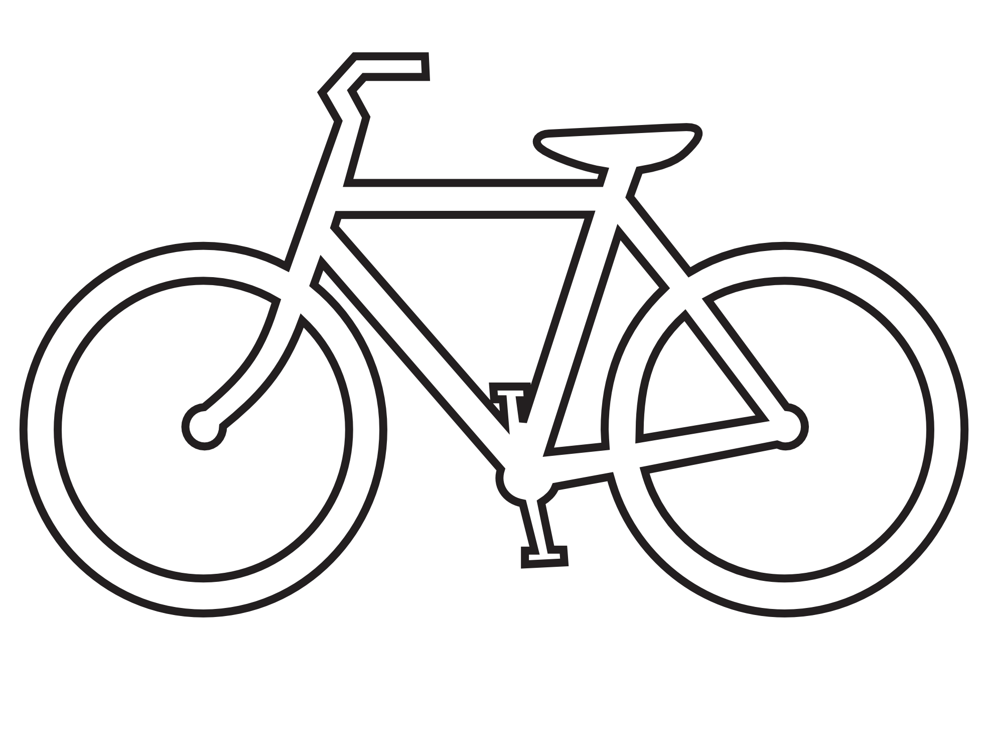 bicycle clipart simple