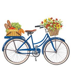 bicycle clipart flower