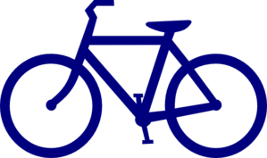 bicycle clipart blue