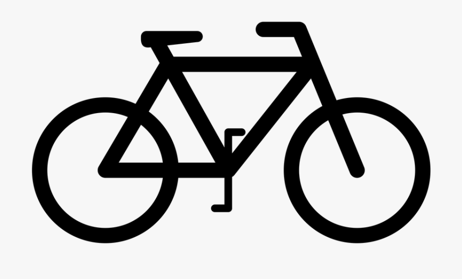 Bicycle clipart cycling. Bike sign vector transparent