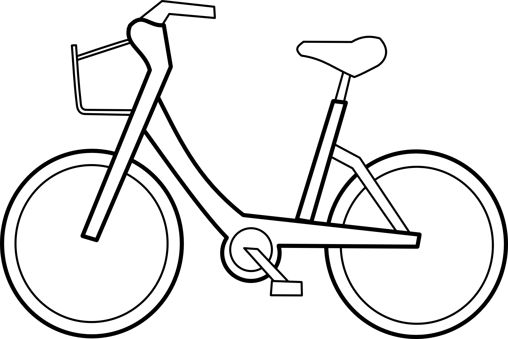 bicycle clipart outline