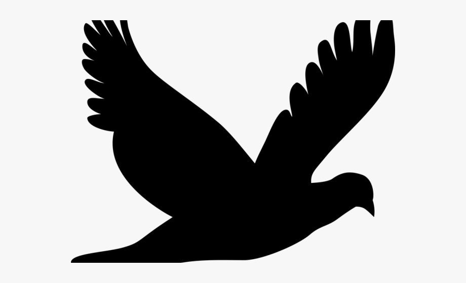 Blackbird clipart flying.