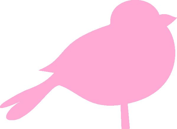 bird clipart pink