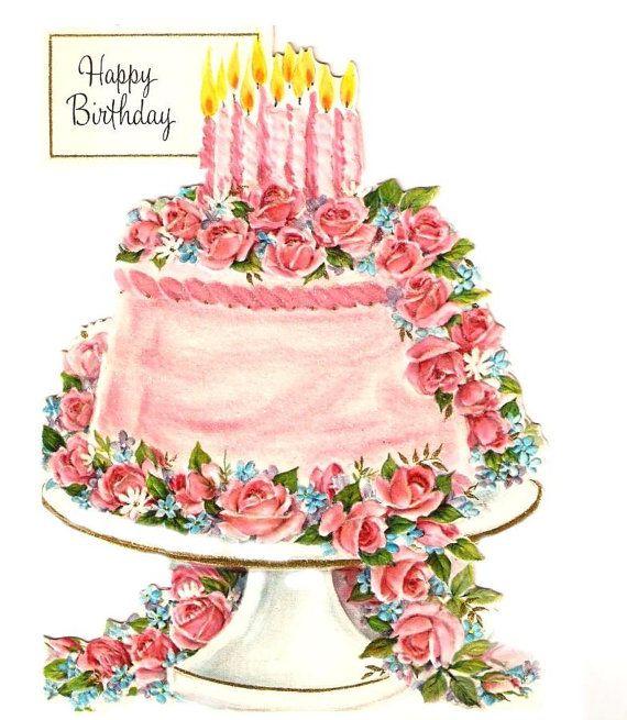 Vintage cake cliparts.