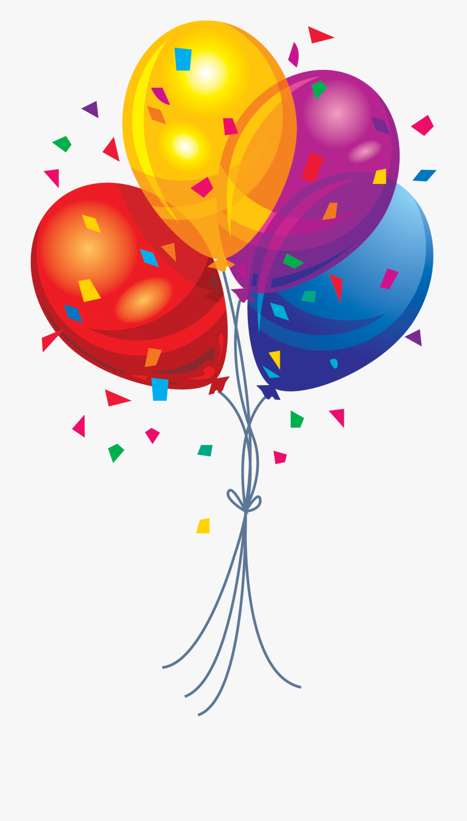 Balloons png image.