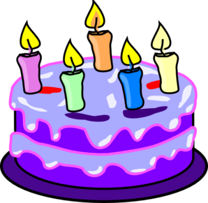 Birthday cake clip.