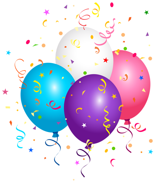 happy birthday clipart confetti
