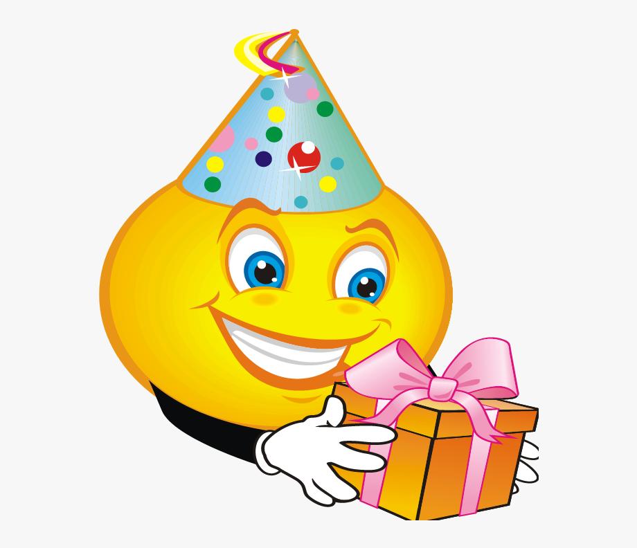 Smiley emoticon birthday.