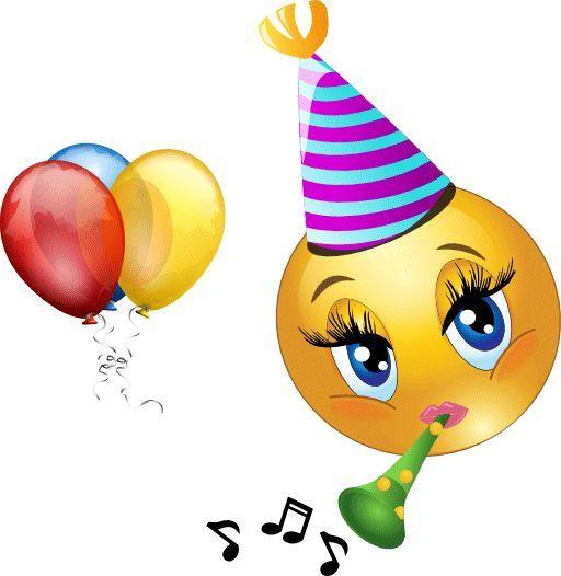 Emoji birthday clipart.