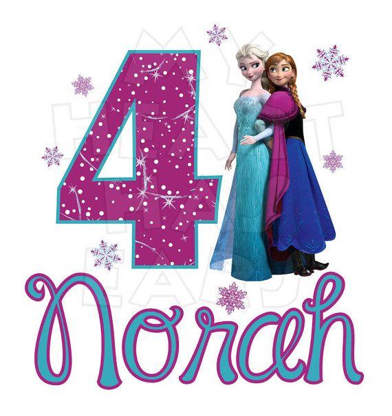 4th Birthday Frozen Clipart
