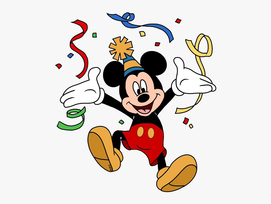 Birthday clipart mickey.