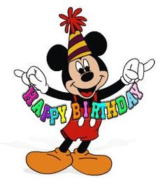 Mickey mouse birthday.