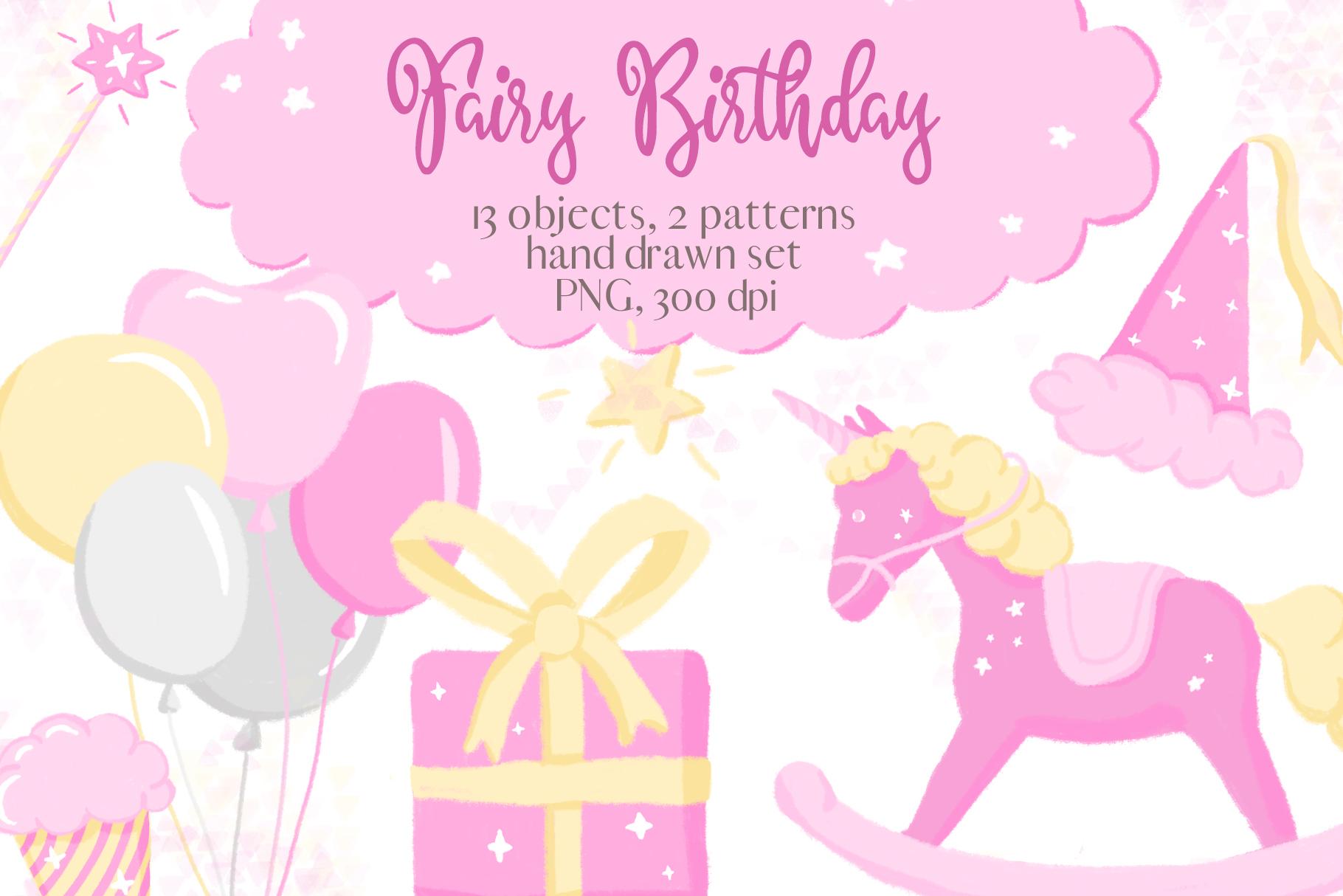 Fairy birthday pink.