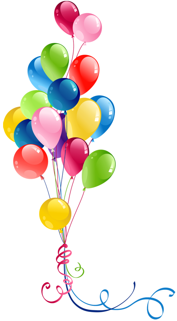 Transparent bunch balloons.