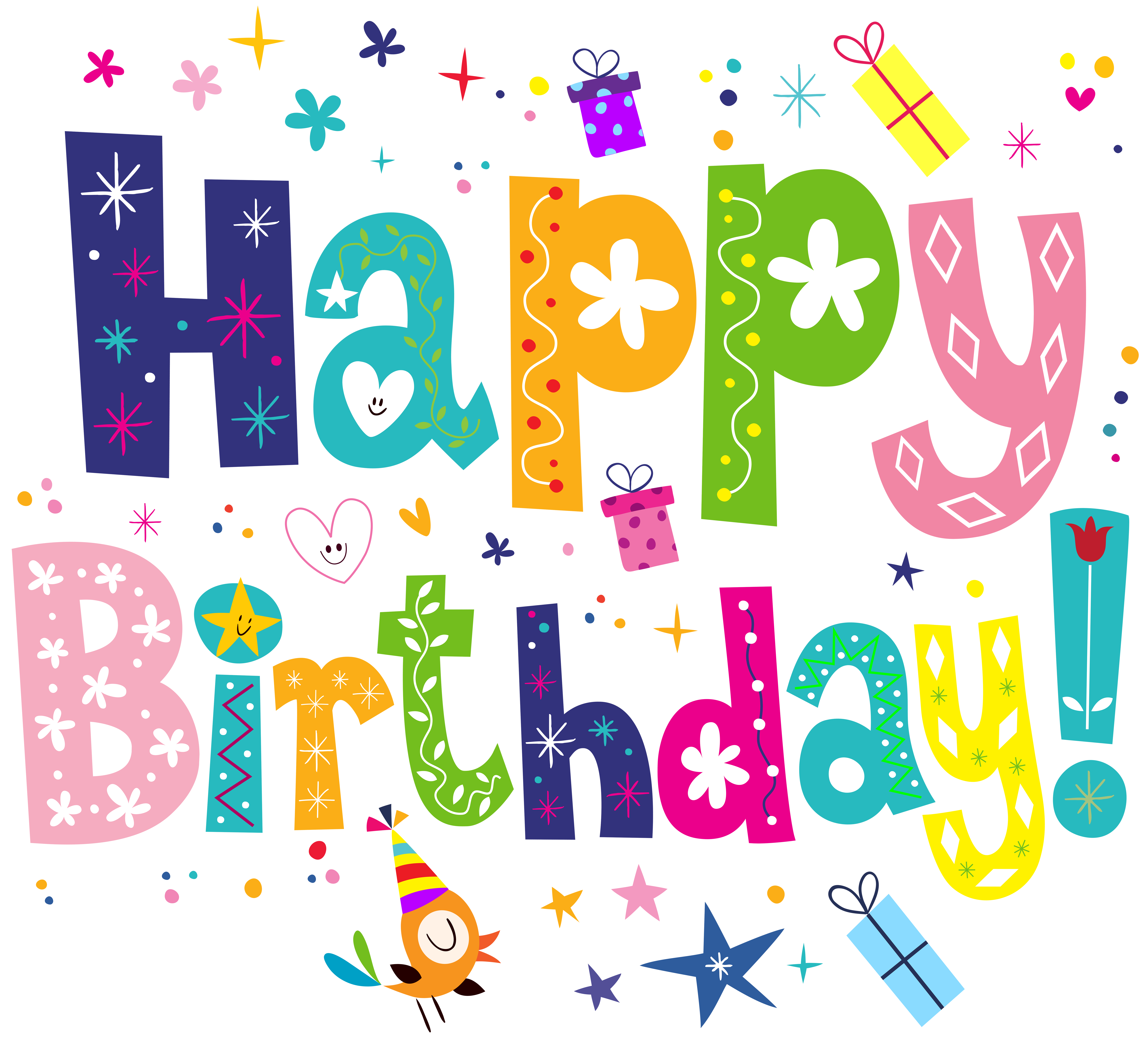 Birthday cake greeting.