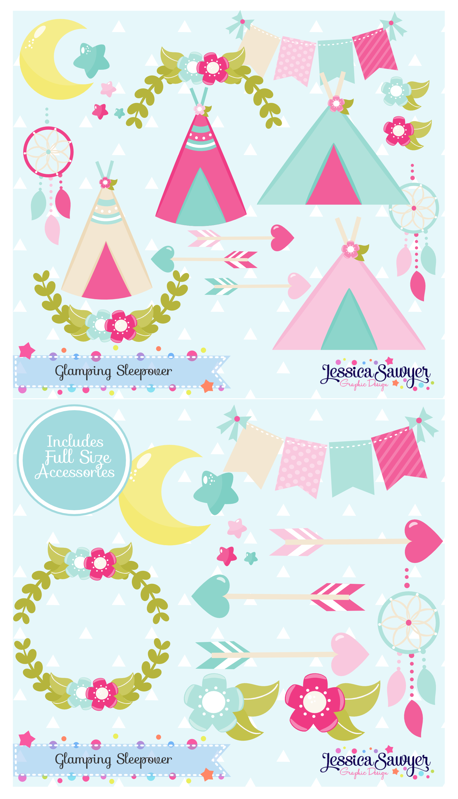 Glamping clipart for.