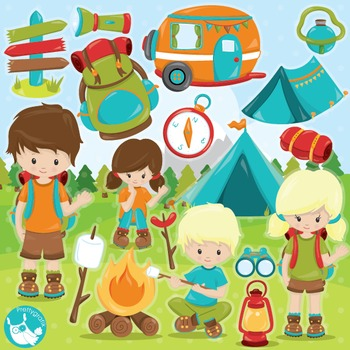 Camping clipart commercial.