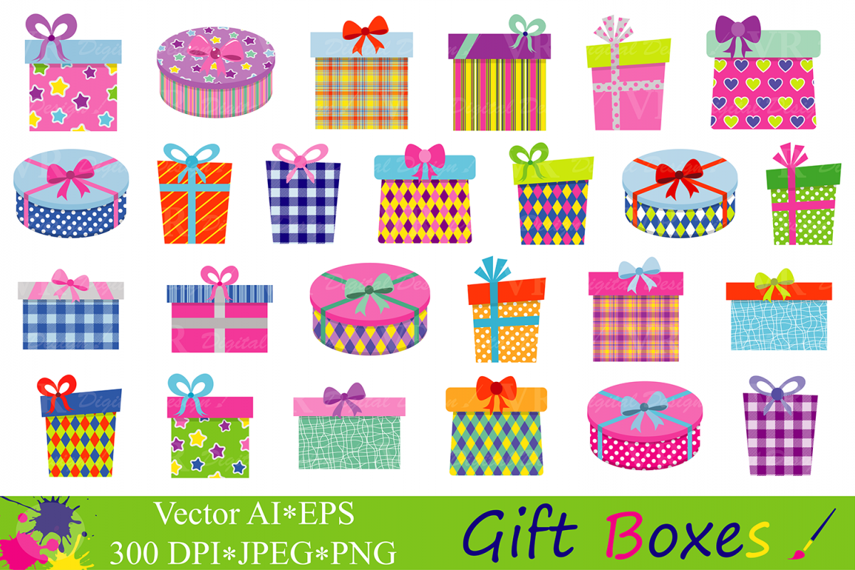 Gift boxes clipart.