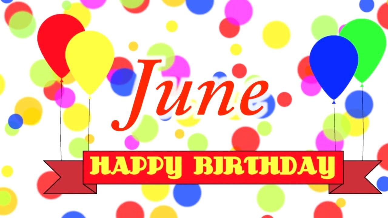 June clipart birthday.