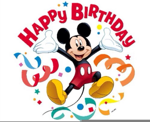 Disney clipart birthday.