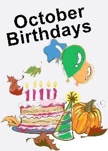 43 october birthday.