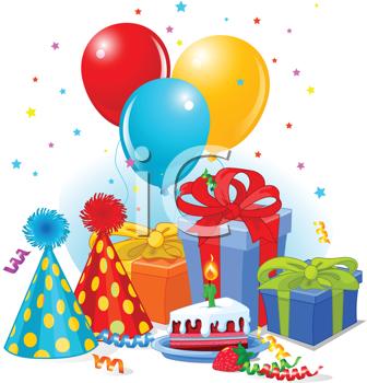 Birthday clipart balloons.