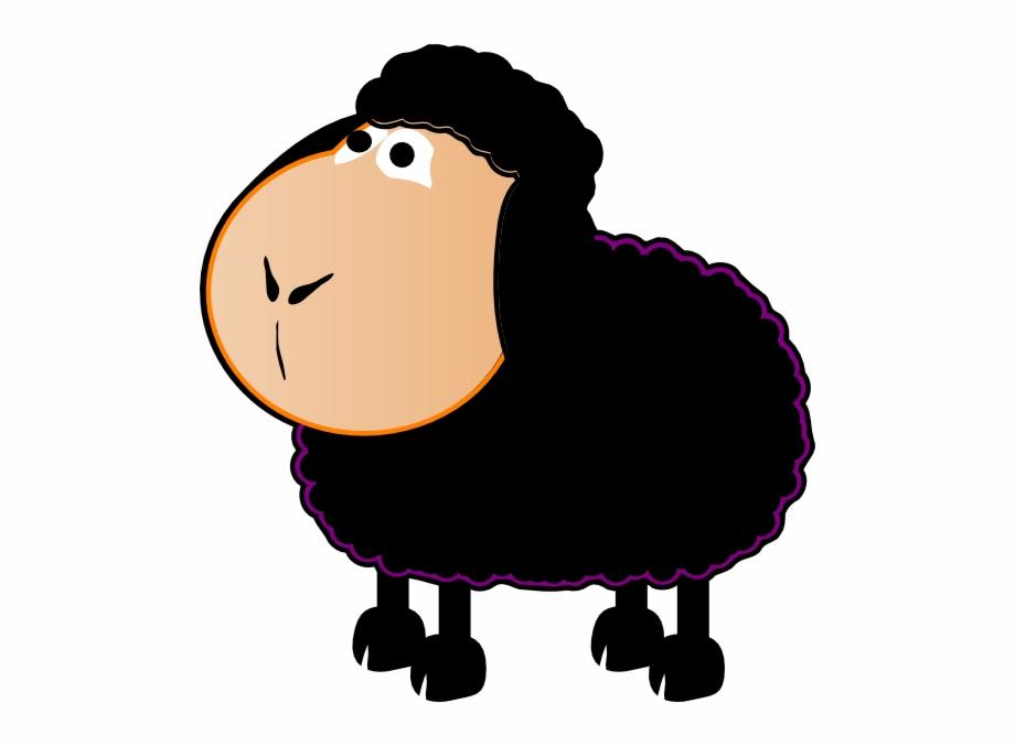 Black sheep clipart small. Cartoon baa transparent png