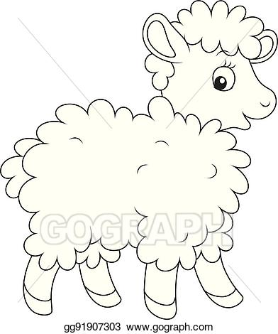 Black sheep clipart small. Black sheep clipart small. Vector stock curly illustration